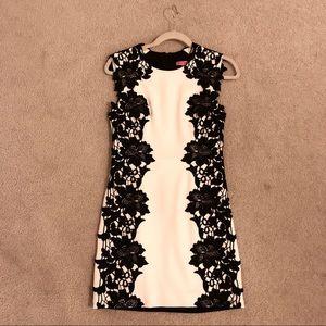 Betsy Johnson white and black dress